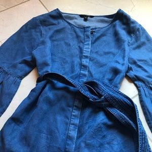 M Banana Republic Long Sleeve Denim Shirt Dress 💙